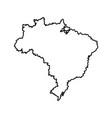 map of brazil landmark geography image vector image