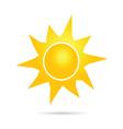 sun icon yellow color vector image