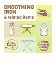 Smoothing Iron Vintage style vector image