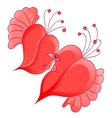 Romantic couple in love with abstract heart shaped vector image