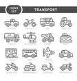 Set line icons of transport vector image