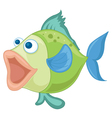 a blue-green fish vector image vector image