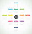 Abstract 2015 Calendar vector image