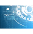 abstract technological future interface digital vector image