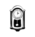 Antique wall pendulum clock icon isolated on white vector image