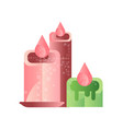burning candles spa design element vector image vector image