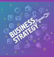 business strategy concept different thin line vector image