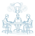Business team working on new business idea vector image