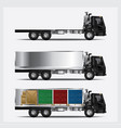 cargo trucks transportation isolated vector image vector image