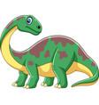 cartoon smiling brontosaurus vector image vector image