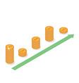 Cash flow graph vector image vector image