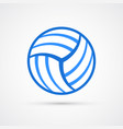 colored volleyball ball trendy symbol vector image
