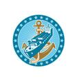Container Ship Cargo Boat Anchor vector image vector image