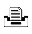 contour buciness document file cabinet design vector image