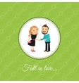 Couple in love valintines day card vector image