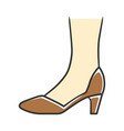 court shoes brown color icon woman stylish formal vector image