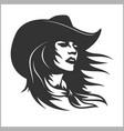 cute cowgirl 2 - retro clip art vector image vector image