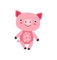 cute soft pink piggy plush toy stuffed cartoon vector image vector image