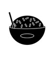 delicious rice food vector image vector image