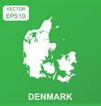 denmark map icon business concept denmark vector image vector image