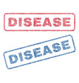 disease textile stamps vector image vector image