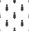 female profile seamless pattern vector image vector image