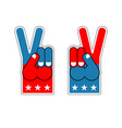 foam finger victory symbol of usa patriot vector image vector image