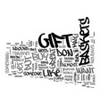 gift baskets text background word cloud concept vector image vector image