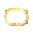 Gold frame Beautiful simple golden design vector image vector image