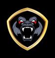 gorilla image sport mascot vector image vector image