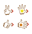 hand with arrow vector image vector image