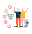 healthy aging concept vector image