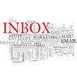 inbox word cloud concept vector image vector image