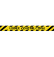 isolated under construction tape vector image
