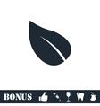 Leaf icon flat vector image