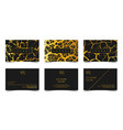 luxury business cards set template banner vector image vector image