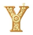 Mechanical alphabet vector image vector image