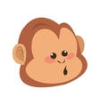 monkey with playful face cartoon icon vector image vector image
