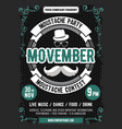 movember mustache party vector image vector image
