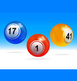 new 3d bingo lottery balls vector image