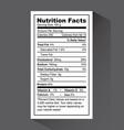 nutrition fact design vector image