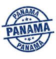panama blue round grunge stamp vector image vector image