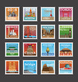 postage stamp collection vector image