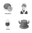 product drink and other monochrome icon in vector image vector image