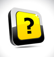 Question 3d square button vector image vector image