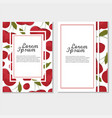 red cherry card frame vintage template vector image vector image