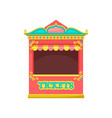 red ticket booth amusement park element vector image