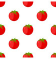 red tomatoes seamless pattern cartoon flat style vector image vector image