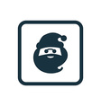 santa icon Rounded squares button vector image vector image