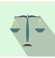 Scales of justice flat vector image vector image